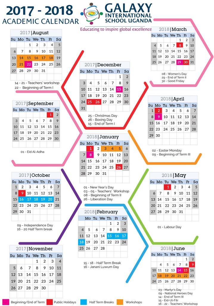Galaxy International School Uganda | School Calendar