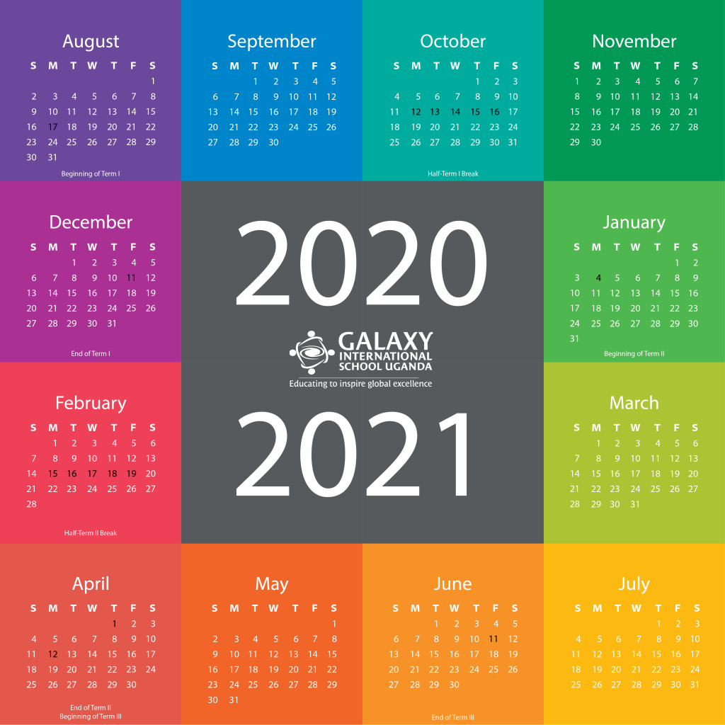 Galaxy International School Uganda School Calendar